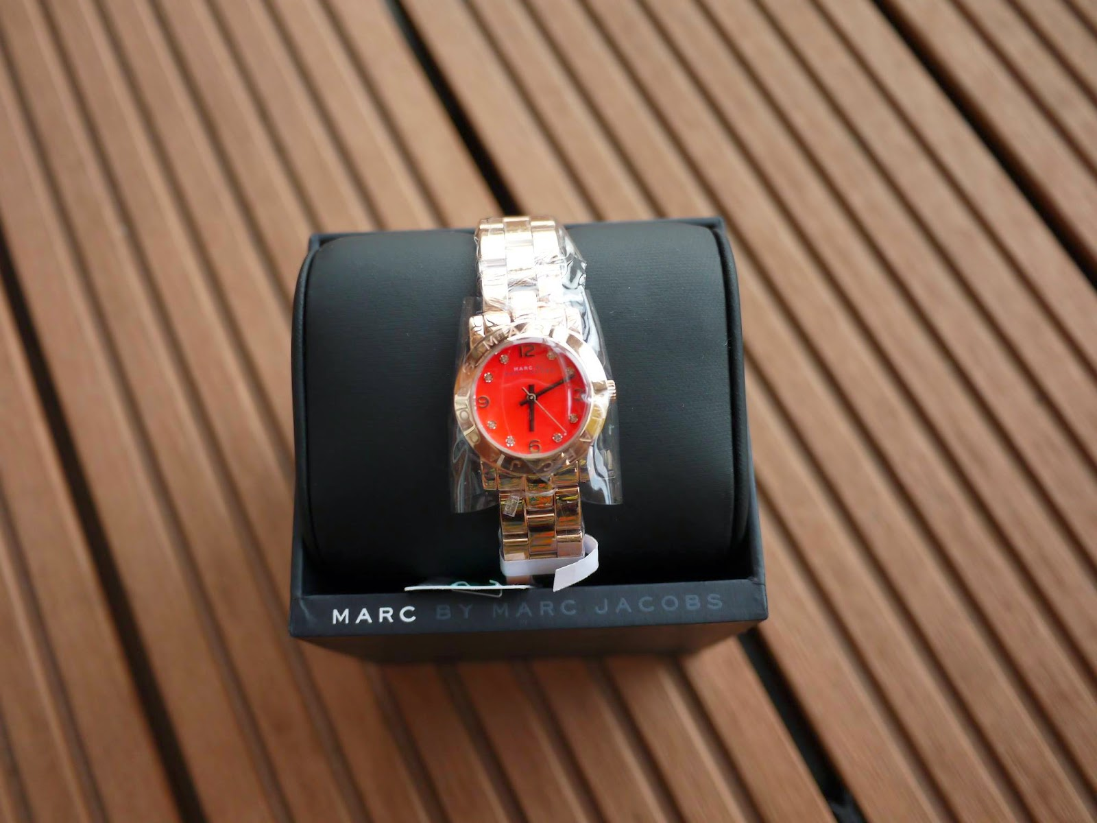e93298e9a (Sold) Marc Jacobs Pink Gold Crystal Watch