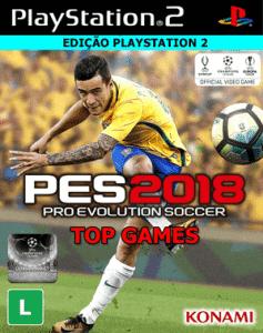 Capa do jogo PES2018 PS2 Site Jogo sem vírus.
