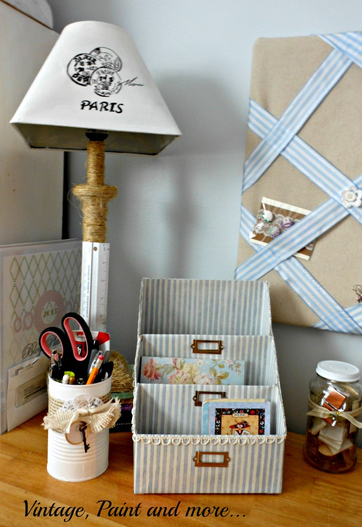 Vintage, Paint and more...diy desktop organization on a budget  using recycled items