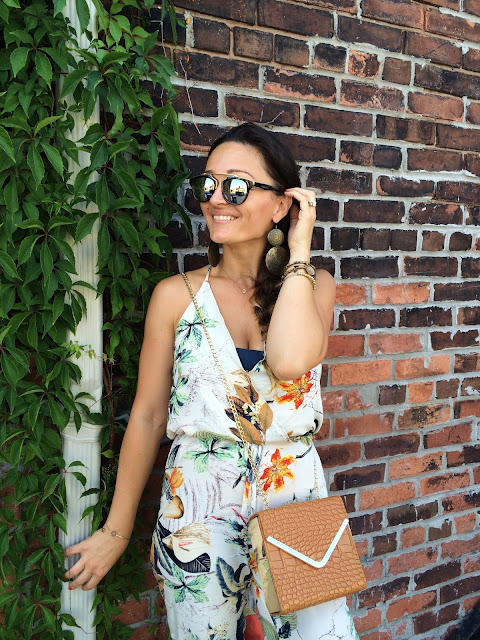 Jumpsuit, floral print, summer outfit, paysuit, Toronto