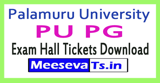 Palamuru University PU PG Exam Hall Tickets Download 2017