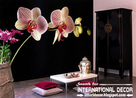 wall murals wallpaper, wall covering ideas, black wall mural