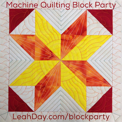 Machine quilting block party Block 3