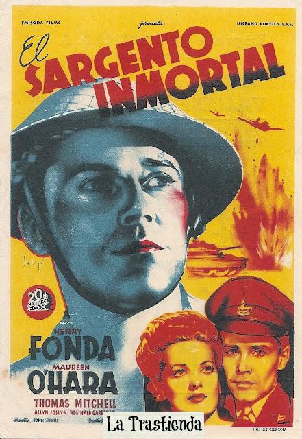 El Sargento Inmortal - Folleto de mano - Henry Fonda - Maureen O'Hara