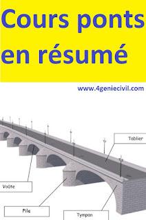 cours sur les ponts technologie, pont a poutre en béton armé pdf, classification des ponts, terminologie d'un pont, étapes de construction d'un pont.