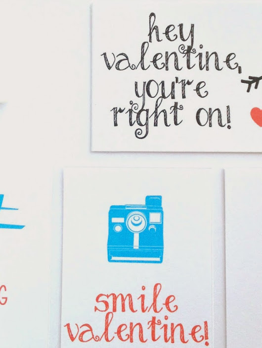 Simple Happy Valentines, Free and Printable