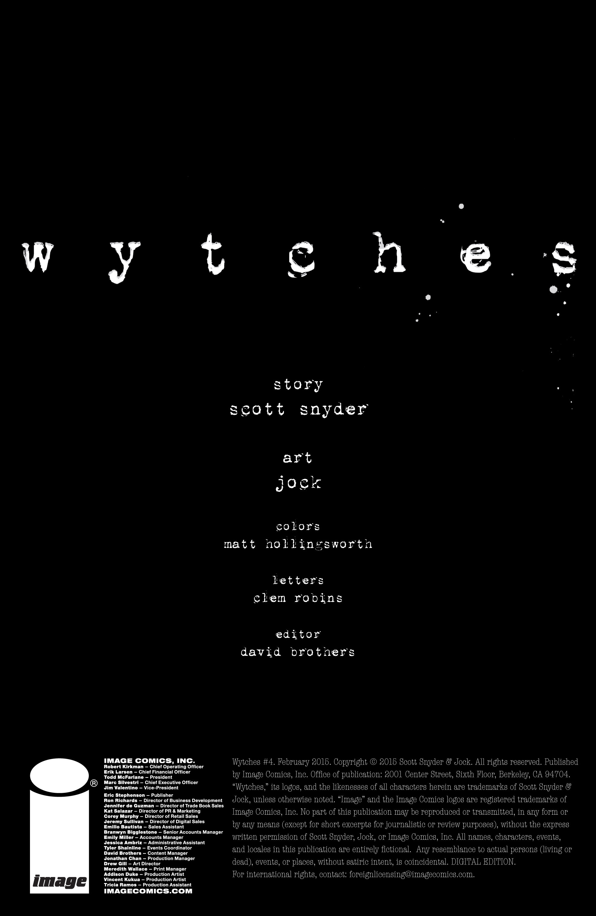 Read online Wytches comic -  Issue #4 - 2