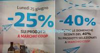 Logo Coop Alleanza 3.0: sconti del 40% e del 25% sui prodotti a marchio Coop