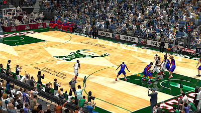 NBA 2K13 Milwaukee Bucks 2013–14 Court Patch