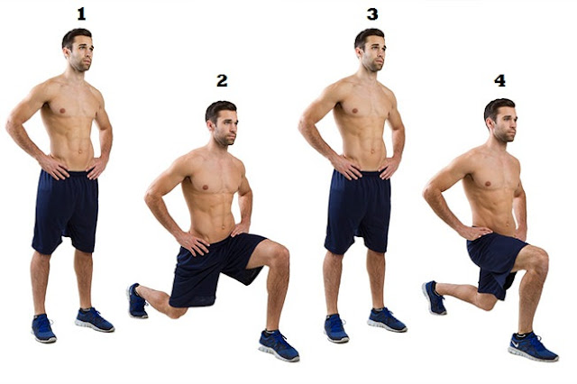 Deep Walking Lunges