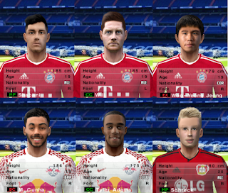 PES 6 Facepack Bundesliga 2018/2019 by Cuervo96
