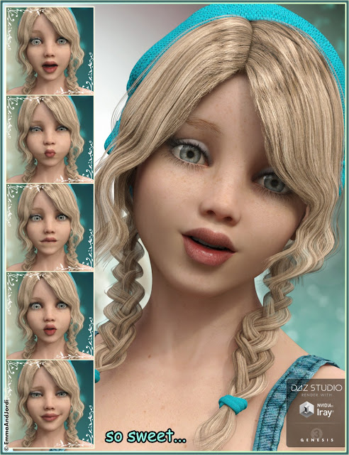 Awesomity Mix and Match Expressions for Tween Julie 7 and Genesis 3 Female