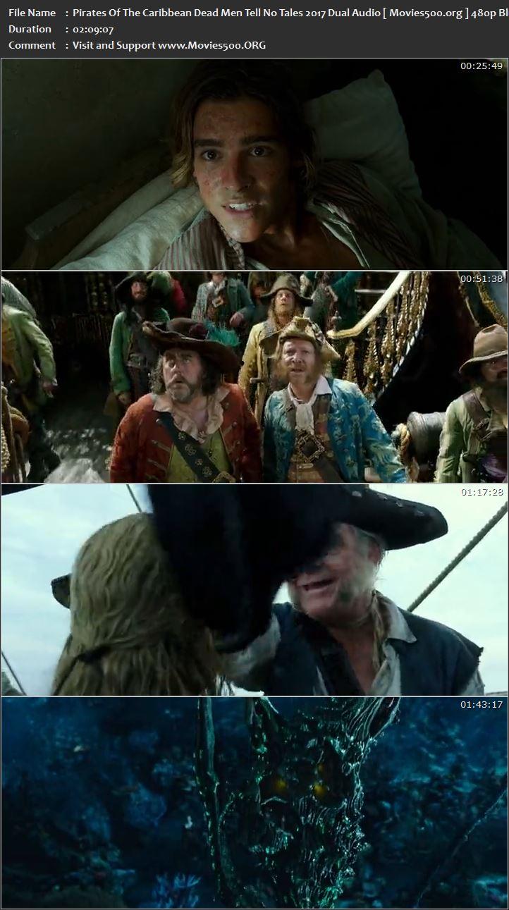 Pirates of the Caribbean Dead Men Tell No Tales 2017 Hindi 366MB BRRip 480p at movies500.site