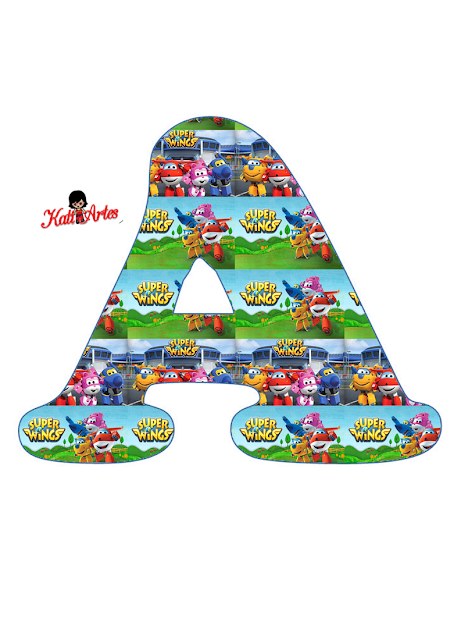 Abecedario de Super Wings. Super Wings Alphabet.
