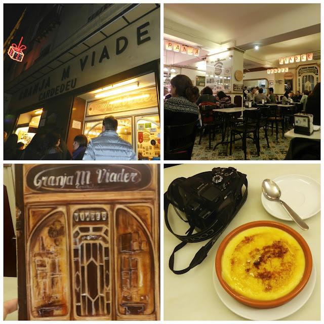 Onde comer churros com chocolate ou crema catalana em Barcelona? Granja Viader