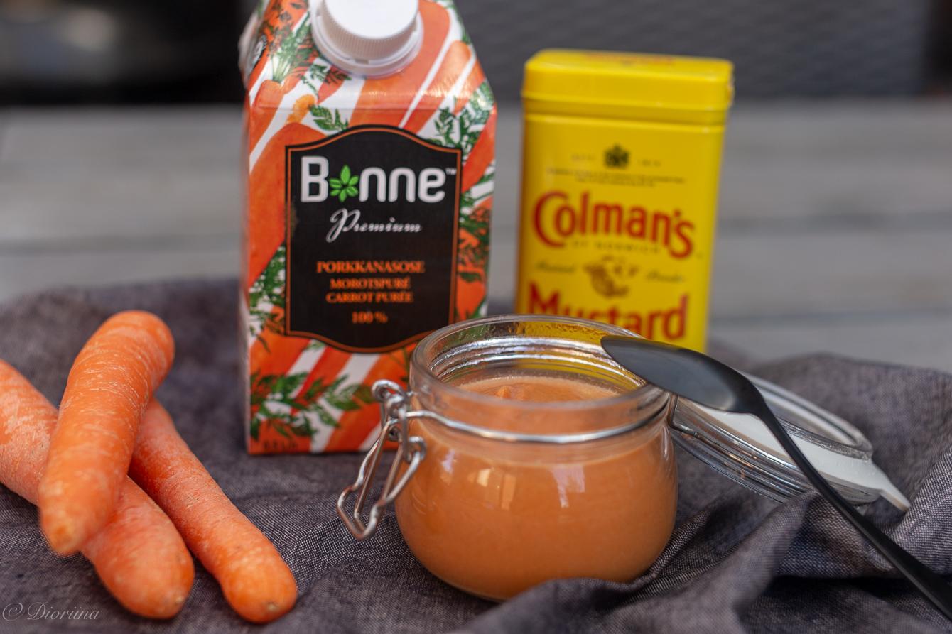 Bonne porkkanasose toimii hyvin myös sinapissa
