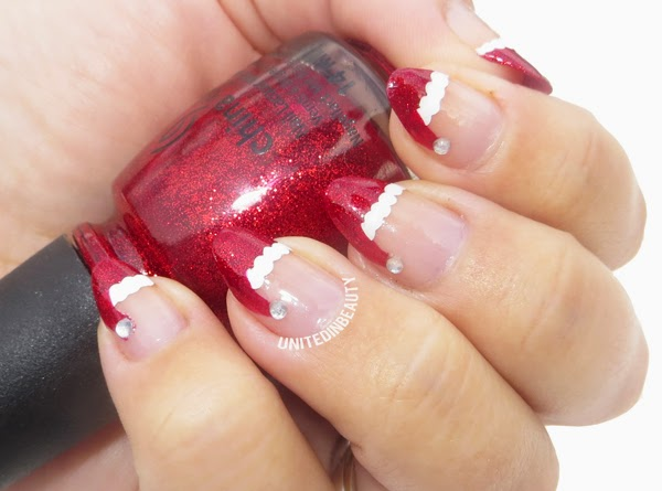 Christmas Stiletto Nails.United In Beauty 12 Days Of Christmas Holiday Manicure