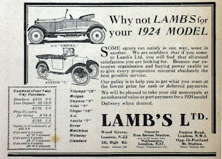 Lamb's Ltd advert 1924