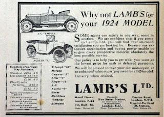 Lamb's Ltd advert 1924