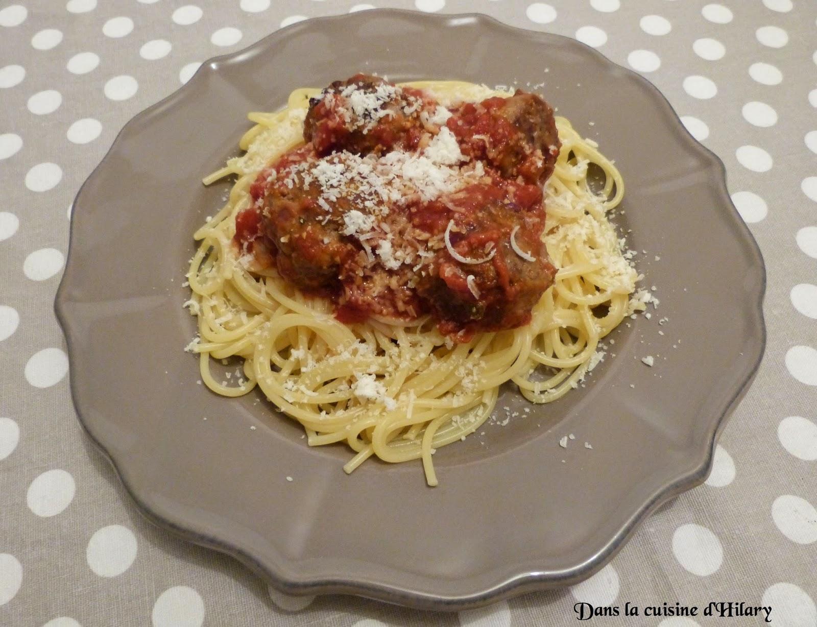 Spaghetti aux boulettes de boeuf