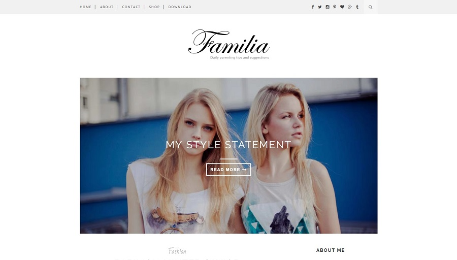 Familia - Clean And Responsive Blogger Template