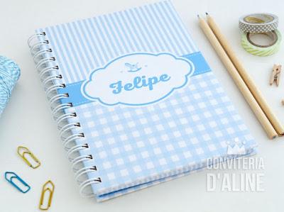 caderno personalizado bebê mamadas