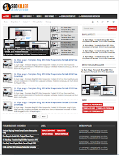 Fitur SL SEO KIller - Template Blog Super SEO Friendly Responsive Terbaik