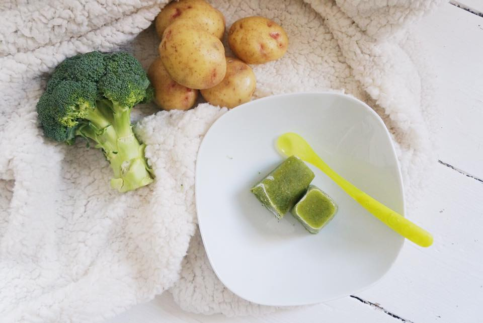 Broccoli, Potato & Pea Purée Recipe