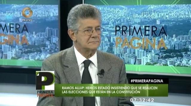 Ramos Allup: La votación de ayer fue un triunfo del pueblo venezolano