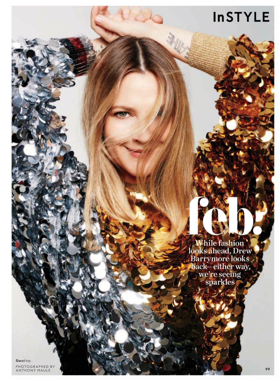 HQ Photo Shoot of Drew Barrymore for Instyle Magazine February 2018 Issue