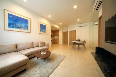 Hanson Court Suites 2BR - Living