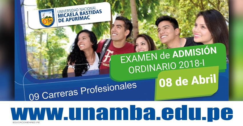 Resultados UNAMBA 2018-1 (8 Abril) Ingresantes Examen Admisión Ordinario Sede Abancay - Cotabambas - Vilcabamba - Tambobamba - Universidad Nacional Micaela Bastidas de Apurímac - www.unamba.edu.pe