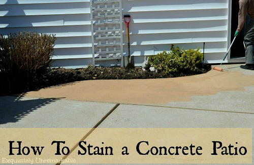 How To Stain A Cement Or Concrete Patio