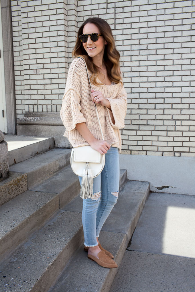 The perfect slouchy sweater. Layer it with a lacy cami for a pretty detail.