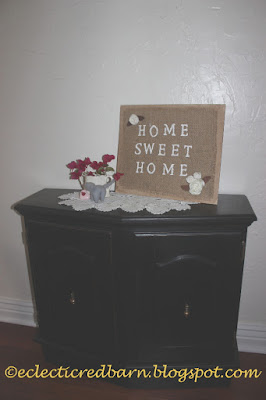 Eclectic Red Barn: Black Entry Cabinet