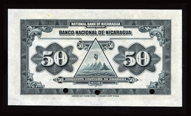 Nicaragua Fractional currency 50 Centavos
