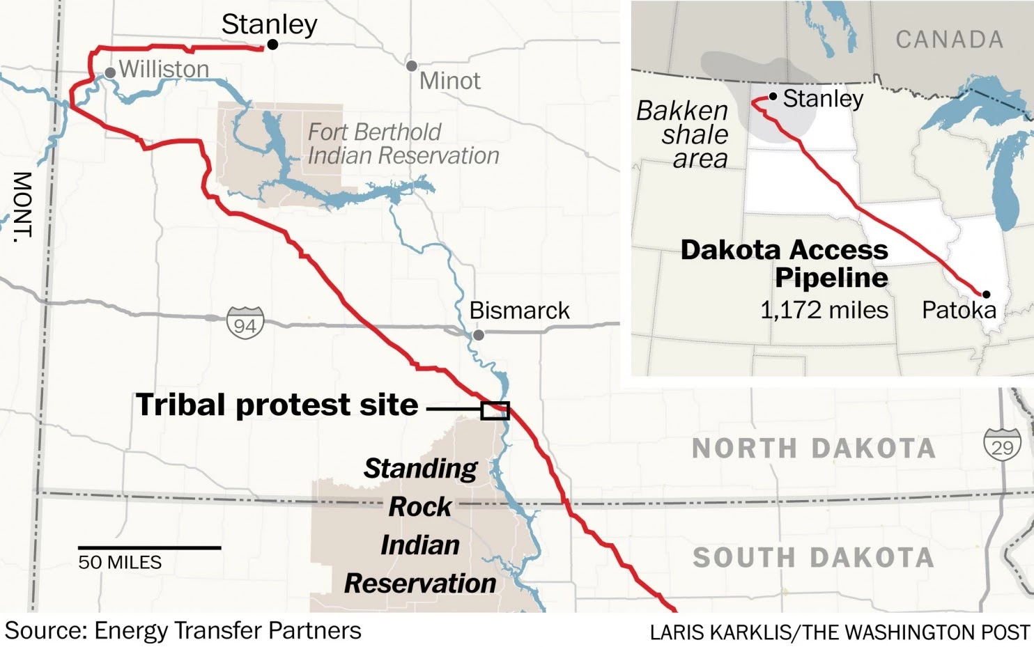 the u s army corps of engineers approved the construction of a 1 172 mile dakota access pipeline or dapl which runs through north and south dakota