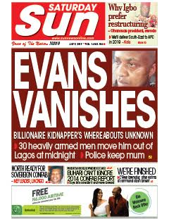 Billionaire kidnapper, Evans was reportedly said to have vanished