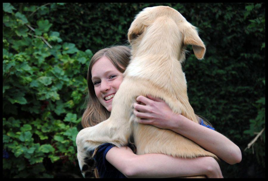 11. Doggy hug