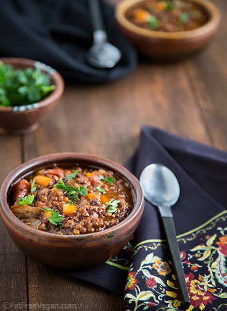 Black Bean and Red Lentil Chili