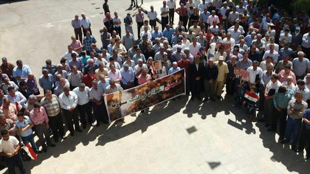 Sirios condenan la ocupación de los altos de Golán por Israel