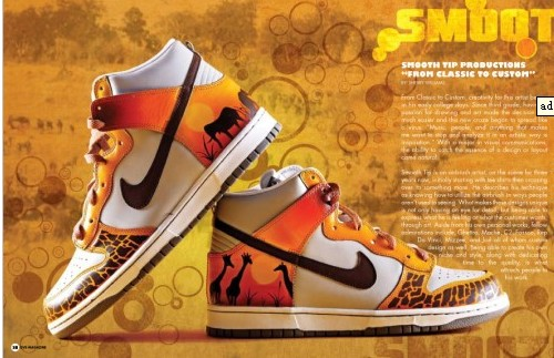 best authentic 28c5e 3140f A beautiful painting of the African sunrise. The Custom Nike Dunks shoes  definitely have the Safari   Africa feel to them.