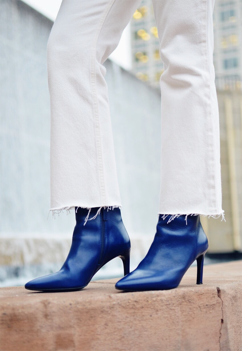 Blue boots street style