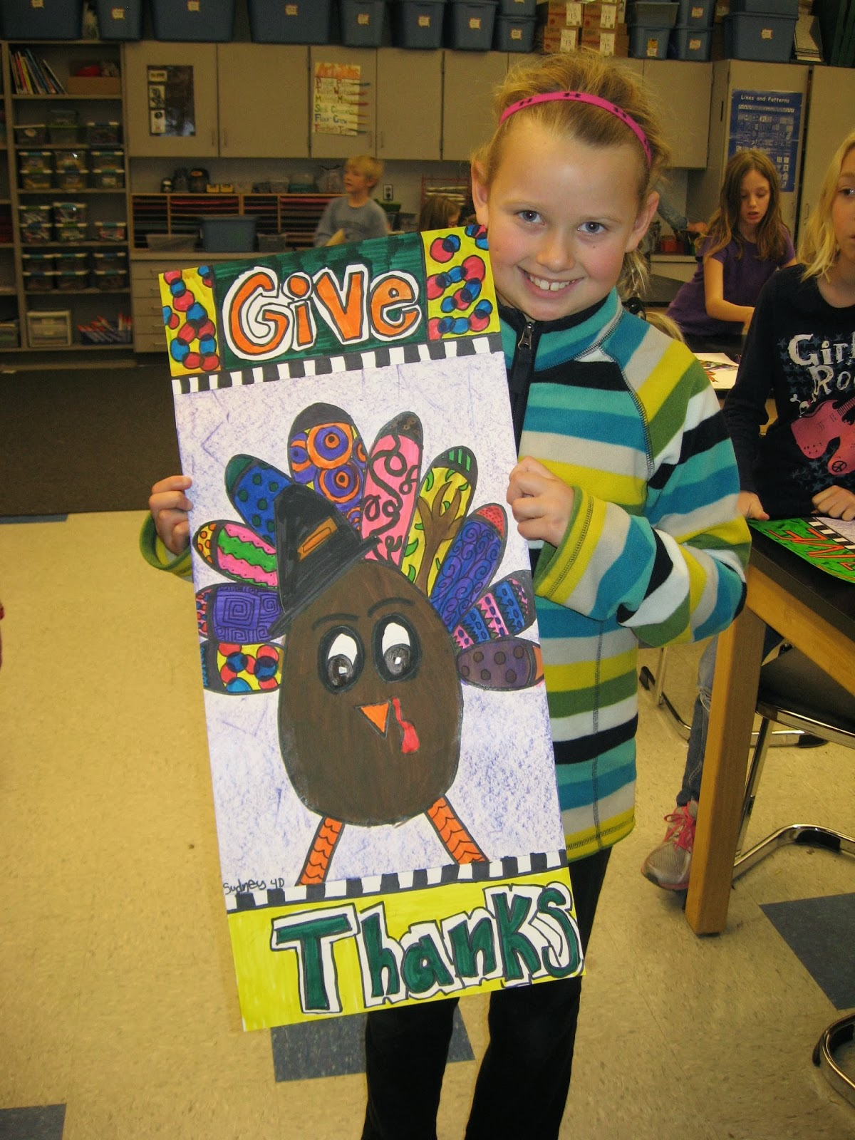 Jamestown Elementary Art Blog 4th Grade Graphic Design And Folk Art Patterned Turkeys