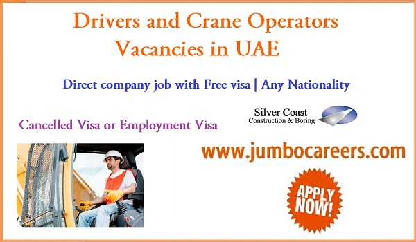 UAE driver jobs for Indians, Find all new jobs in UAE,