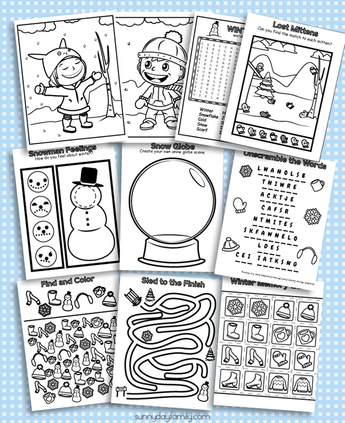 photograph relating to Printable Winter Color Pages named 10 Totally free Printable Winter season Coloring Sport Webpages Sunny