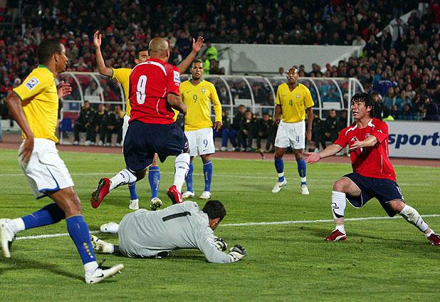 Chile y Brasil en Clasificatorias a Sudáfrica 2010, 7 de septiembre de 2008