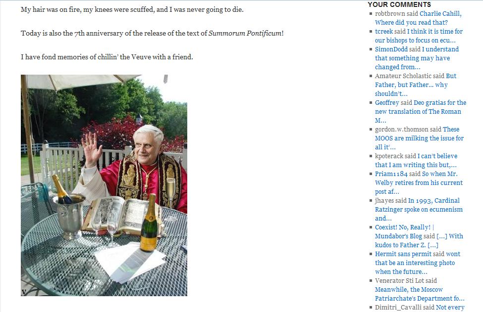 Call Me Jorge Don Zuhldorfs Sacrilegious And Immoral Blog Post