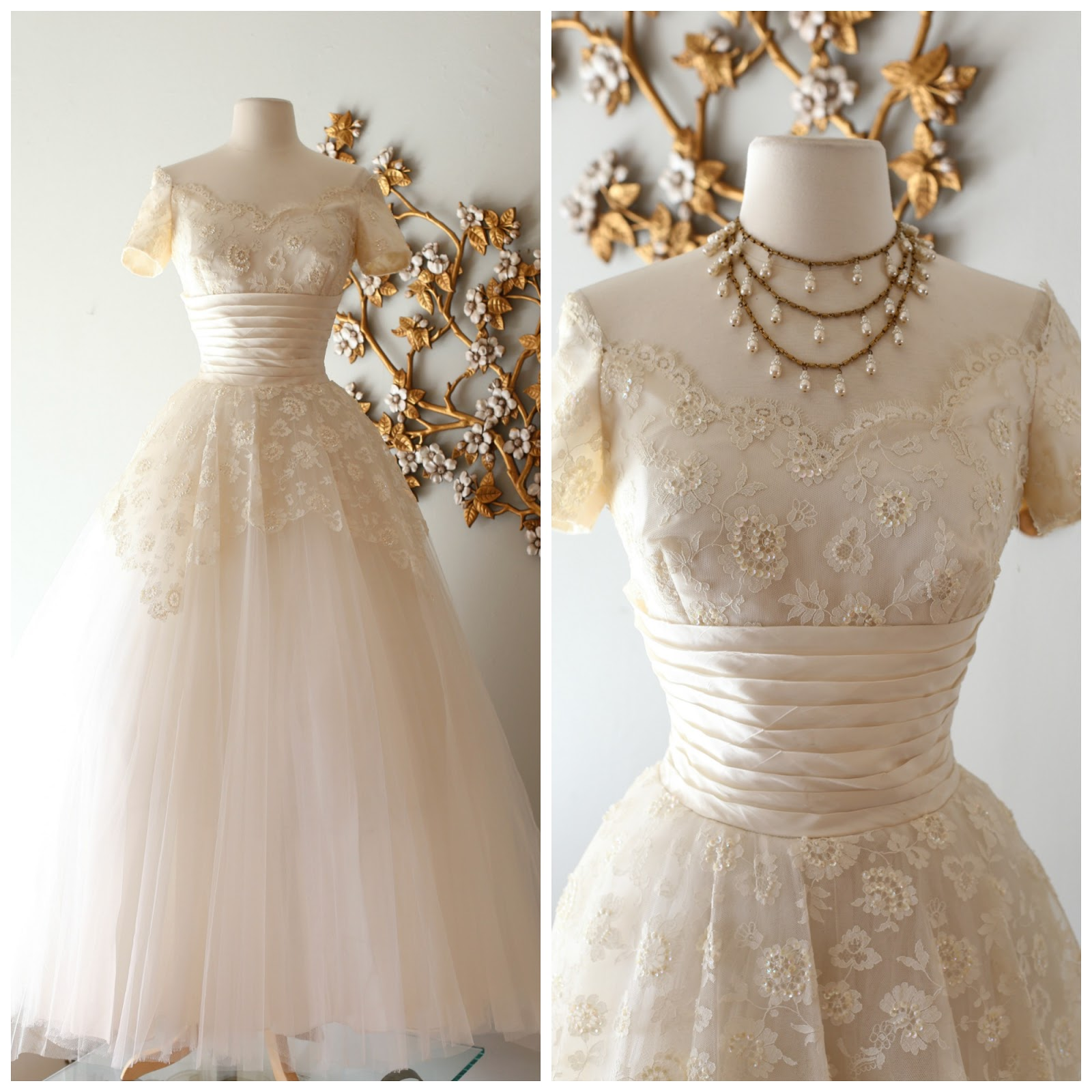 hills sequined lace and tulle wedding gown available in our etsy shop