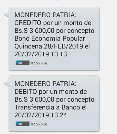 Pago Bono Economía Popular Quincena 28/FEB/2019